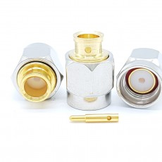 SMA Male 50 Ohm UT-141 Soldering Connector(Nickel)