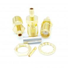 SMA Female Straight RG-316 Crimp Connector(Gold)
