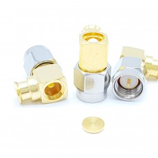 SMA Male Right Angle UT-141 Soldering Connector(Nickel)
