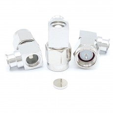 SMA Male Right Angle UT-141 Soldering Connector(Nickel) Pin(Silver)