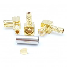 MCX Male Right Angle RG-316S/D Crimp Connector(Gold)