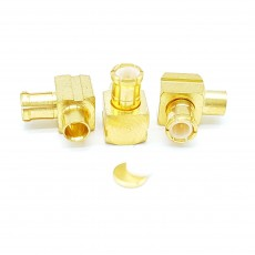MCX Male Right Angle UT-085 Soldering Connector(Gold)
