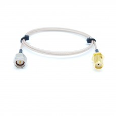 SMA(M)(수컷)-SMA(F)BH(암컷) RG-178 10Cm Cable Assembly-50옴