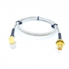 SMA(M)RA수컷-SMA(F)BH암컷 방수형SF141 Cable Assembly-50옴