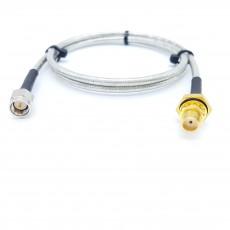 SMA(M)수컷-SMA(F)BH암컷 방수형 SF141 Cable Assembly-50옴
