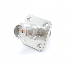 SMA(F)암컷-SMA(F)암컷 4Hole Panel 50ohm ADAPTOR 니켈