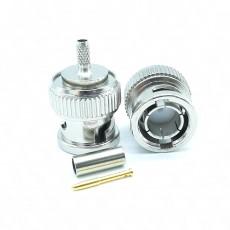 BNC(M)S/T수컷 75옴 RG-179 Crimp Connector