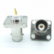 BNC Female암컷4Hole Flange Connector-4.3-5mm (Nickel) 아세탈