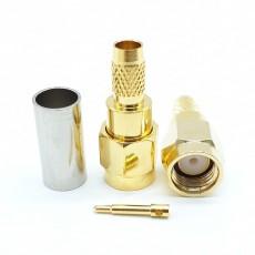 SMA Male Straight 50 Ohm LMR200 Crimp Connector(Gold)