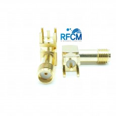 6GHz SMA(F) RA 4R PCB (L: 19.0mm 4R깊이: 4.0mm)