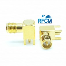 6GHz REVERS SMA(F) RA 4R PCB (L: 14.9mm 4R깊이: 3.8mm)