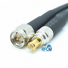 MCX(M)수컷-SMA(M)숫컷 RG-58 Cable Assembly-50옴