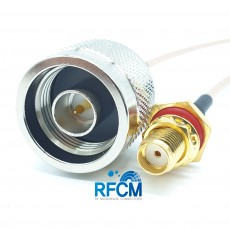 N(M)수컷-SMA(F)BH암컷 방수형RG-316/S Cable Assembly 50옴