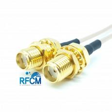 SMA(F)BH암컷-SMA(F)BH암컷 RG-178 Cable Assembly 50옴