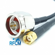 RP SMA(M)암컷-N(M)수컷 RG-58 Cable Assembly-50옴