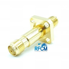 SMA(F)-SMA(F) 4Hole Panel 50ohm ADAPTOR DC~10GHz