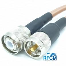 HN(M)수컷-M(M)수컷 RG393 1m Cable Assembly-50옴